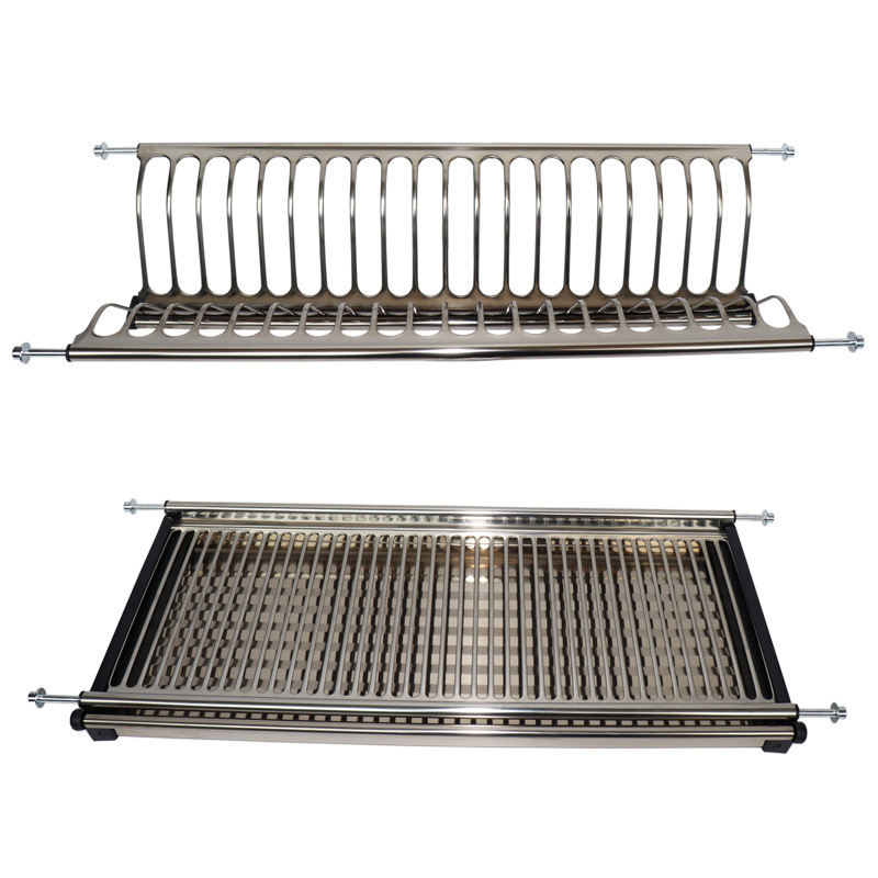 kitchen cabinet hanging stainless steel dish drying drainer rack