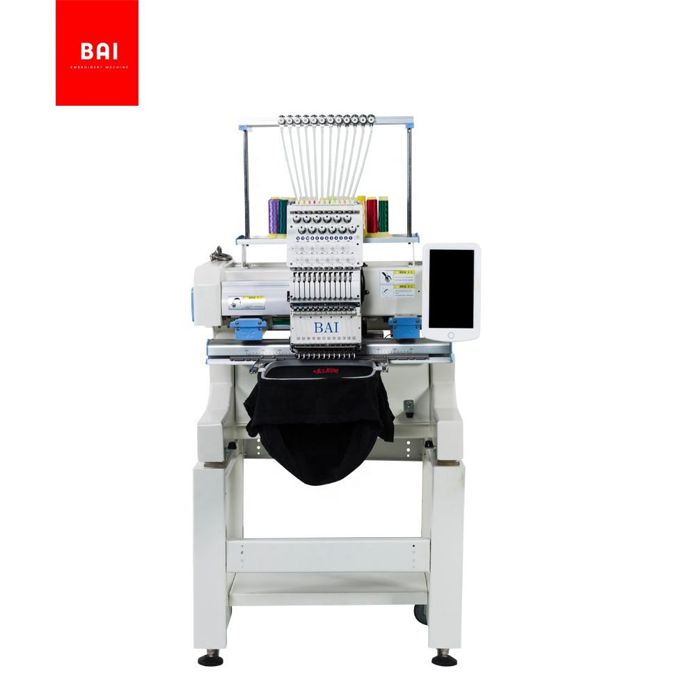 BAI DAHAO 10 inches screen home use t shirt logo embroidery machine for sale