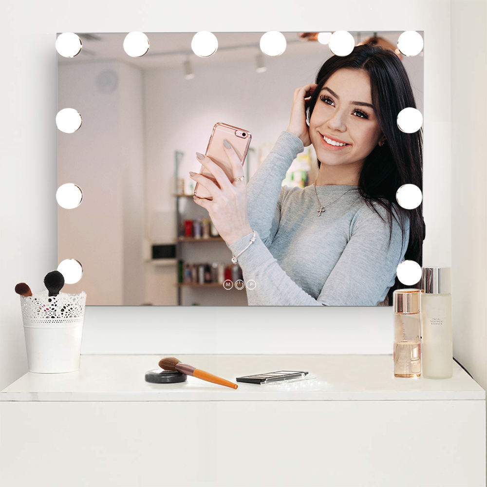 Makeup Mirror Hollywood Style LED Vanity Mirror with 14 Touch Dimmer LED Bulbs for Makeup Dressing Table