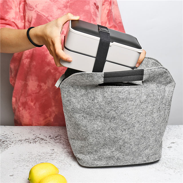 Bento box 2 layer Portable Japanese lunch box with bag