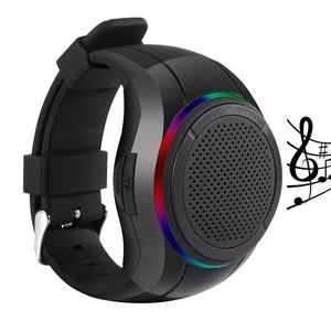 X10 Waterdichte LED Bluetooth Speaker Horloge MP3 Muziekspeler PTT Armband Mini Wearable Draadloze Draagbare Bluetooth Speaker