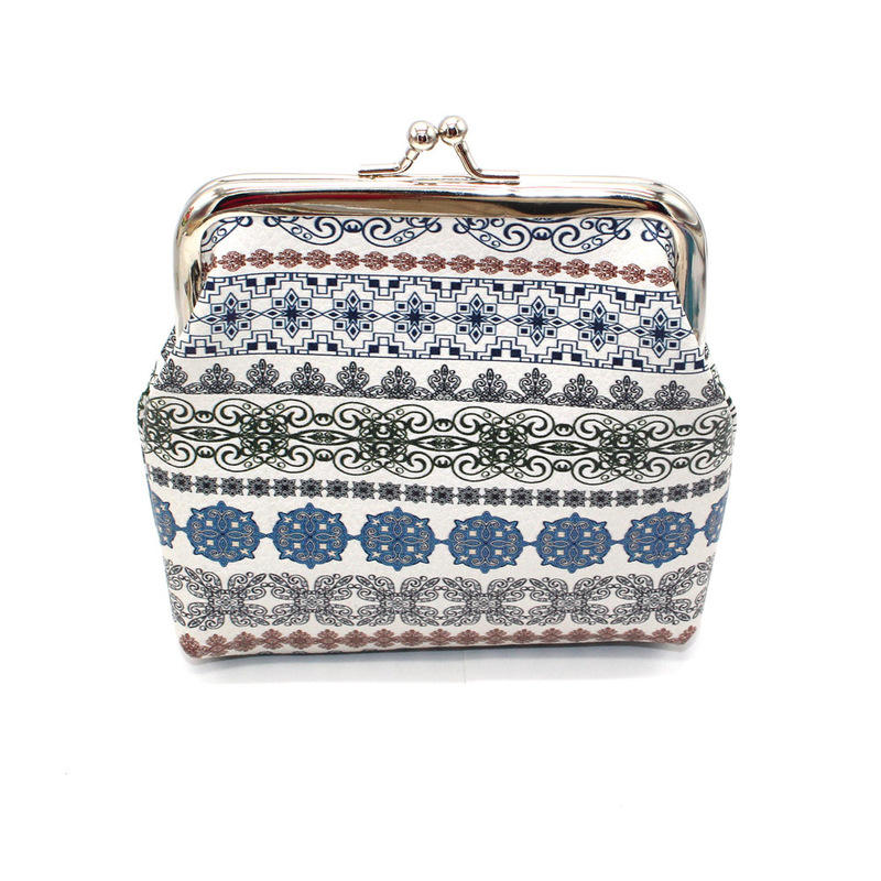 100 Pieces Coin Purse Wholesale Ethnic Carpet Patterned Zippered Pouch Bag