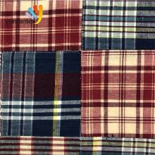 High quality 100  cotton patch work check and stripe  piecine quilting fabric