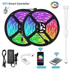 Alexa Smart phone wifi controller full set 5m 10m 5050 30led IP65 waterproof rgb led strip light