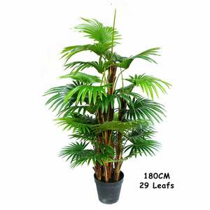 Hot Koop Kunstmatige Plant Ornament Palm Blad Boom