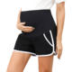 MCS02019 MC Pregnant Women Maternity Full Panel Shorts Trousers Cotton Elastic Waist Short Pants