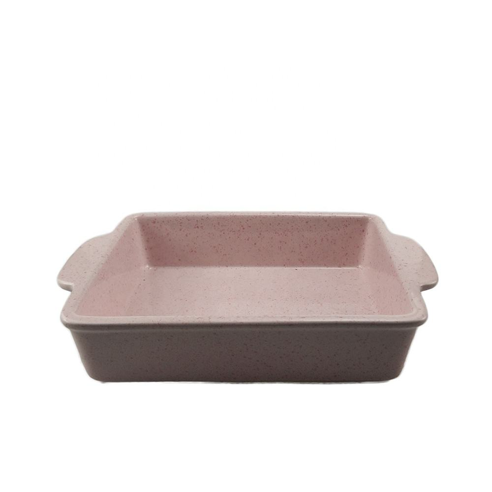 Chaozhou Nordic Ware Spotted Double Ear Bakeware Board Food Baking Dish Pink