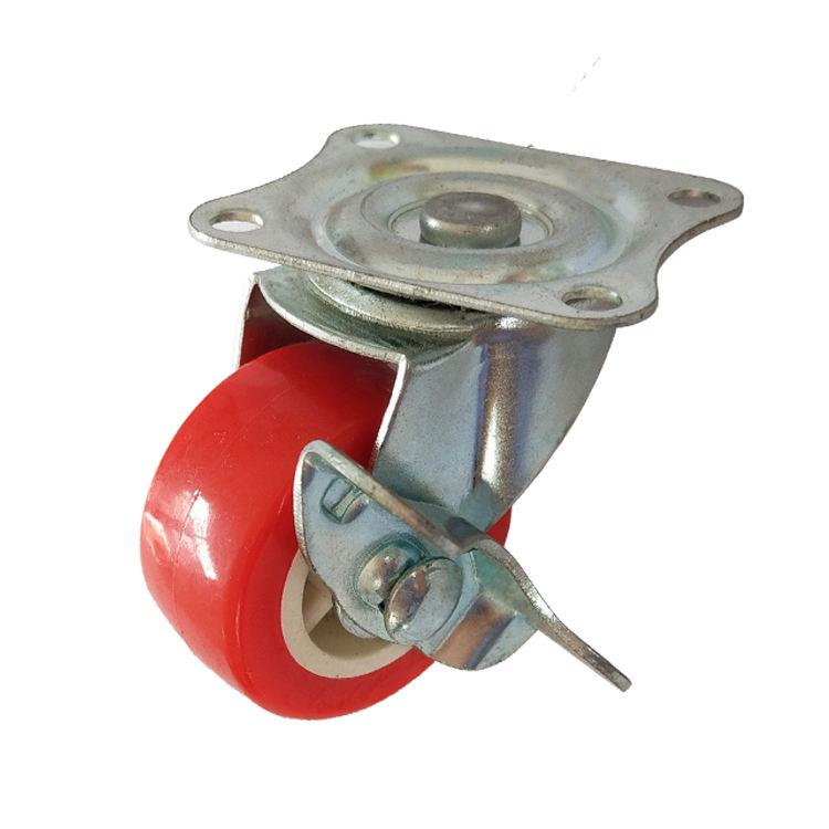 Charge 10KGS Rouge PA Pivotant 40mm Roulettes Avec Frein Latéral
