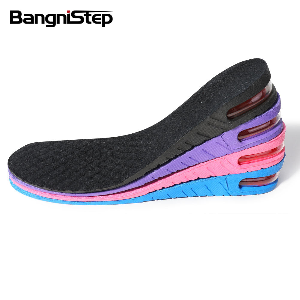 Bangnistep Three Layers Adjustable PVC Hight Increase Insole Air Cushion Unisex Insoles Height Elevator Insoles