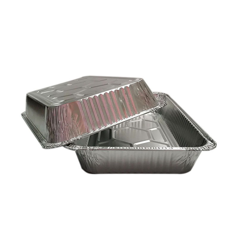 Home Use Packing Aluminum Foil Container Baking Tray Pizza disposable food containers
