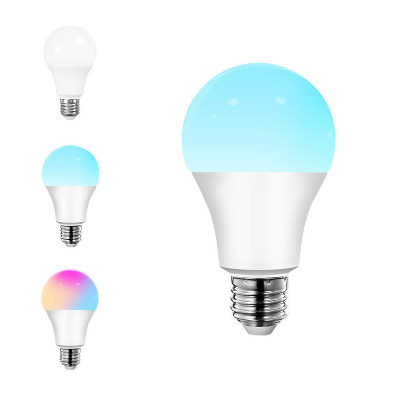 Bron Fabrikant Wifi Intelligente Lamp <span class=keywords><strong>E27</strong></span> Schroef Poort Rgb Led Afstandsbediening Lamp W3w7w10w Lamp Zeven Kleuren Sfeer
