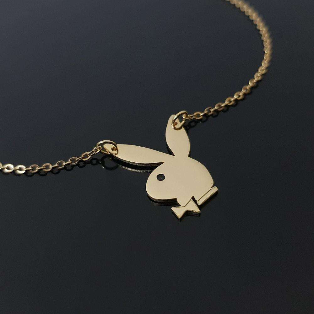 Inspire jewelry Play boy Bunny Pendant for women and girls kawaii cute charms wholesale custom 2019 new design