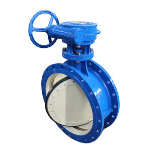 Professional OEM BS DIN AWWA WCB flange double eccentric butterfly valve