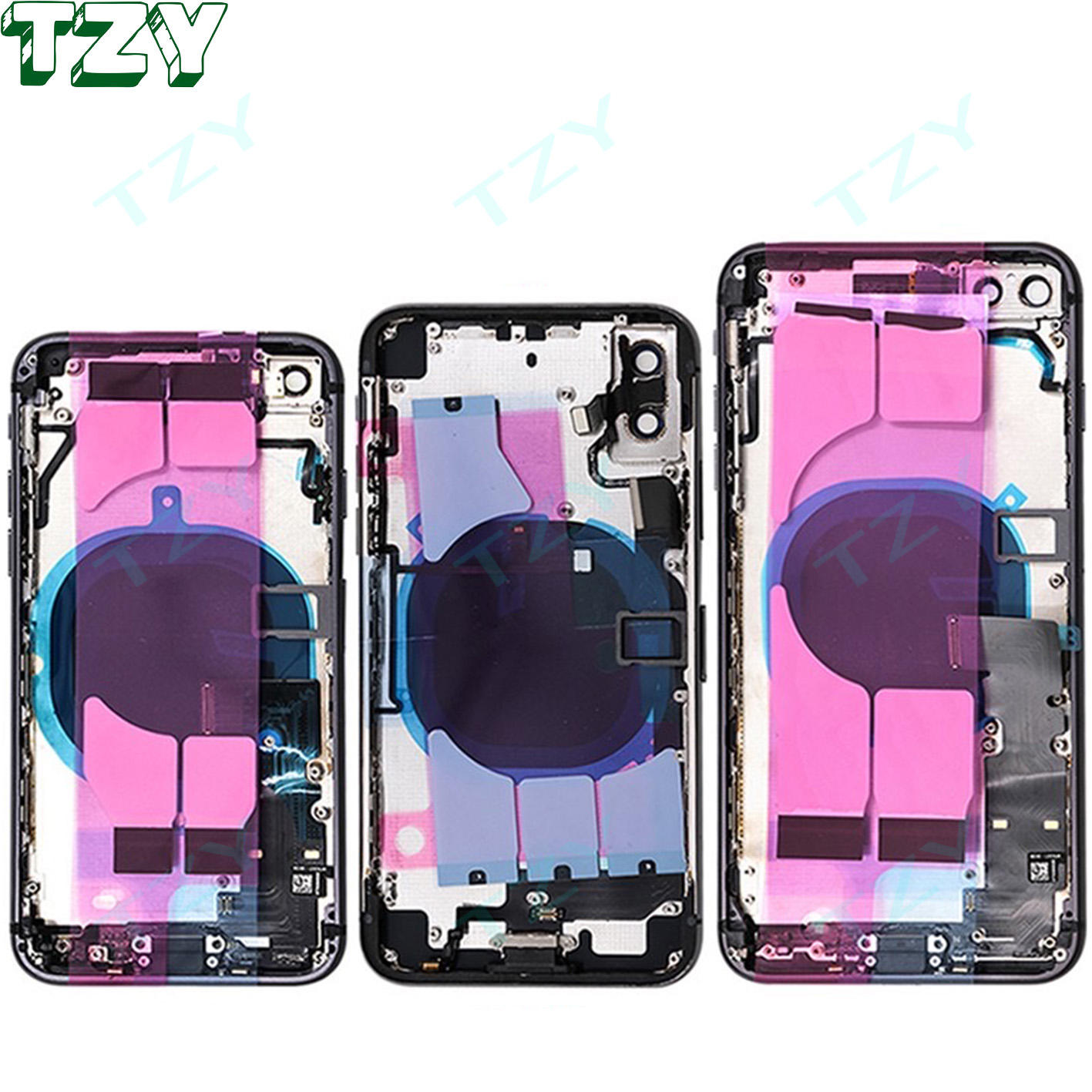 Full Battery cover Housing For Apple iphone 7G 7PLUS 8G 8PLUS X XR XS XSMAX Back cover With Flex Cable Middle Frame Chassis