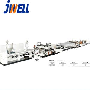 Energy saving plastic hollow cross section PE PC PP plate board extrusion line