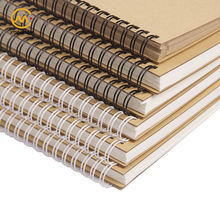 Wholesale custom size A4A5A6 wire binding spiral Kraft paper cover recycled coil notebook