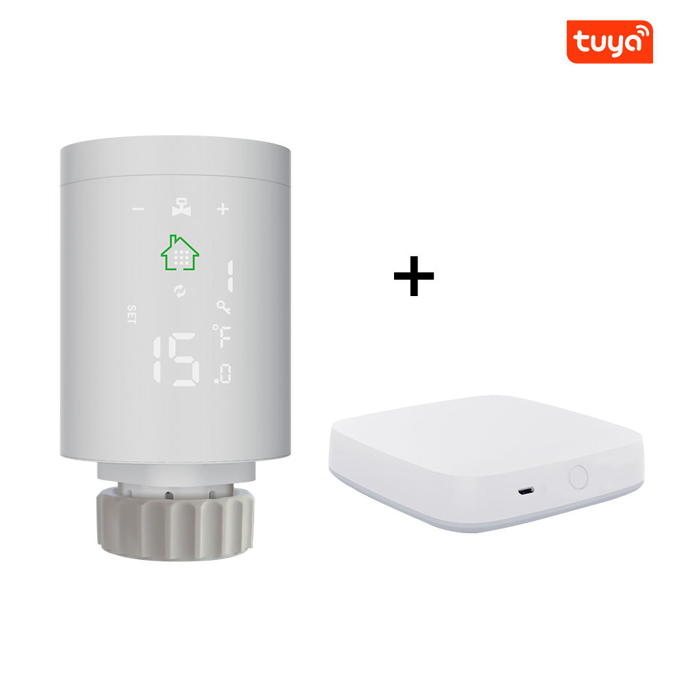 High Temperature Control Wifi Zigbee Heating Radiator Thermostat with Valve