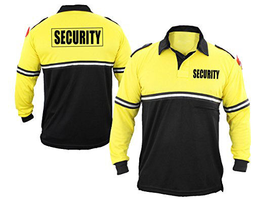 Security Staff Uniform Police Polo T-Shirt 100% Cotton Security Polo Shirt Security Guard Two Tone Polo Shirt