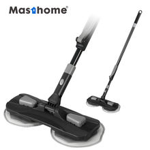 Masthome Wet or Dry household Cleaning 360 Magic Flat Floor dust Mop with Adjustable iron Handle Microfiber Mop Pads