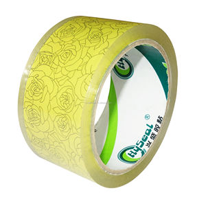 Crystal Clear packing tape with customer logo or brand free sample
