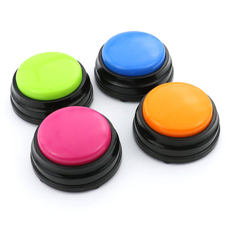 30seconds Natural Human Voice recordable push button toys buzzer for education