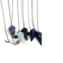 Wholesale  Natural Crystal  Pendulum Gemstones Pendulums Healing Crystal Stones