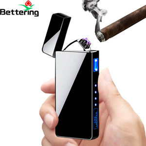 cool flameless classic pocket cigeratte electronic tesla coil usb charging led cigarette case smoking pipe cigar atomic lighter
