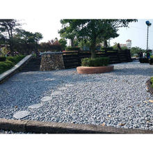 Outdoor Garden Grey Crushed Stone, Granite gravel pavers