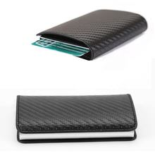 RFID blocking pop up synthetic leather credit card holder