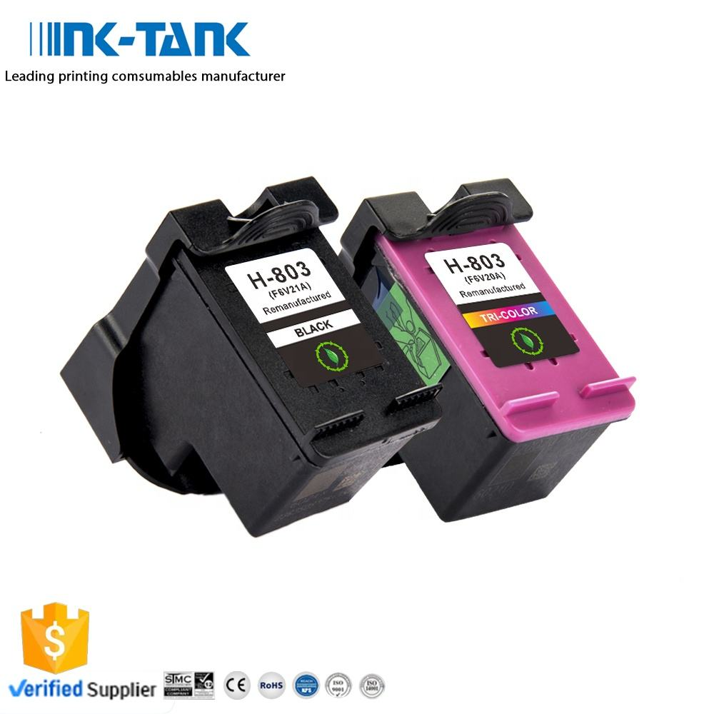 INK-TANK 803 XL 803XL Premium Color Black Remanufactured Ink Cartridge For HP803 For HP Deskjet 1110 1115 2130 2135 3630