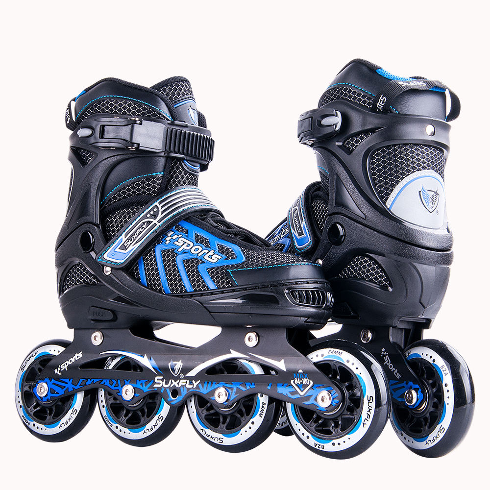 OEM Professional Four Wheel Patines Electric Roller Skate Shoes Inline Speed Skate 3 wheels