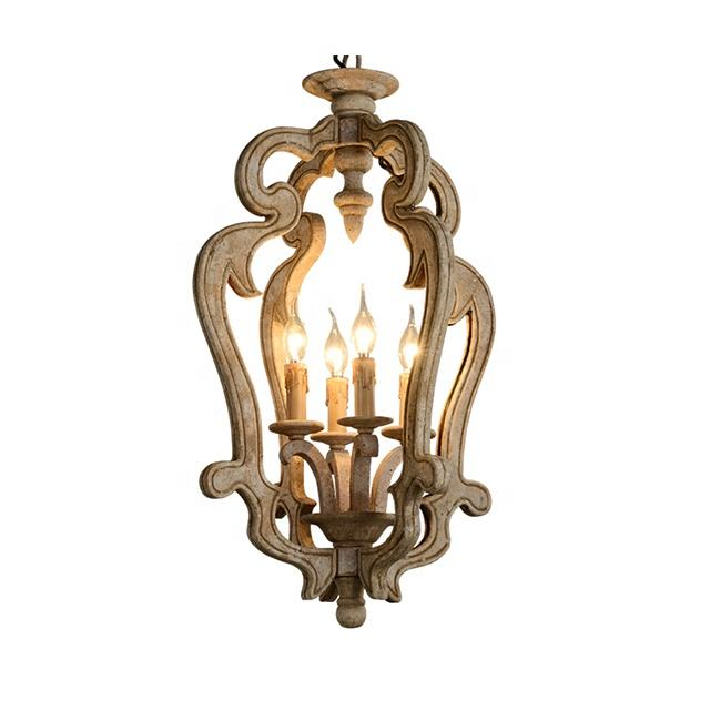 Antique Wooden Lamp Chandelier by Rustic Chandelier Exporter