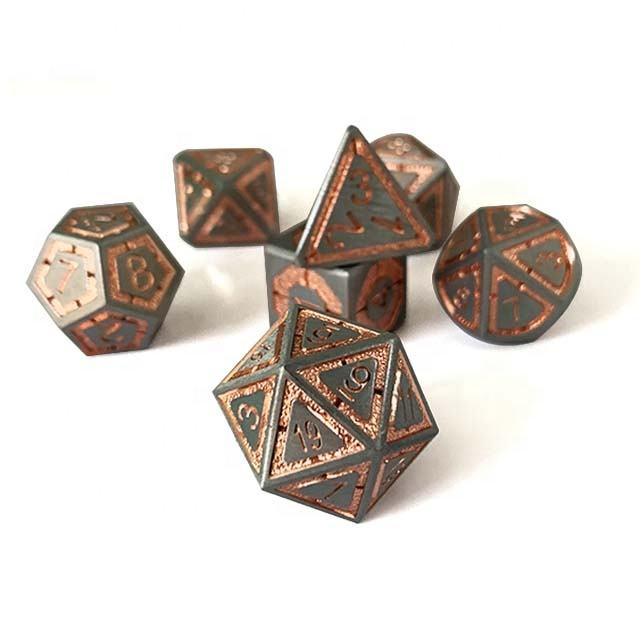Rpg dice set 7pcs dnd metal dice