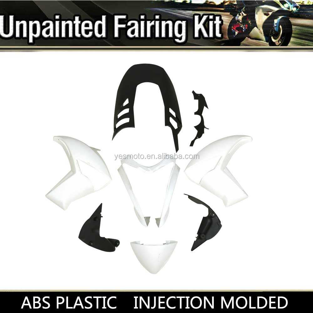 Unpainted White ABS Injection Fairing Bodywork For Kawasaki ER6N ER 6N 2009 2010