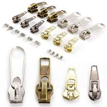 DAWEI Metal Zipper Slider Replacement Zip Slider Teeth Puller New Design Shoes Zipper Slider
