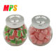 Factory Wholesale 4.4 Oz assorted fruit hard candy in glass bottle