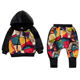 Children's Clothes Children Design Children Clothes Mudkingdom Boutique Children's Clothing Sets Boys Casual Clothes Sets Wholesale Kids Graffiti Clothing
