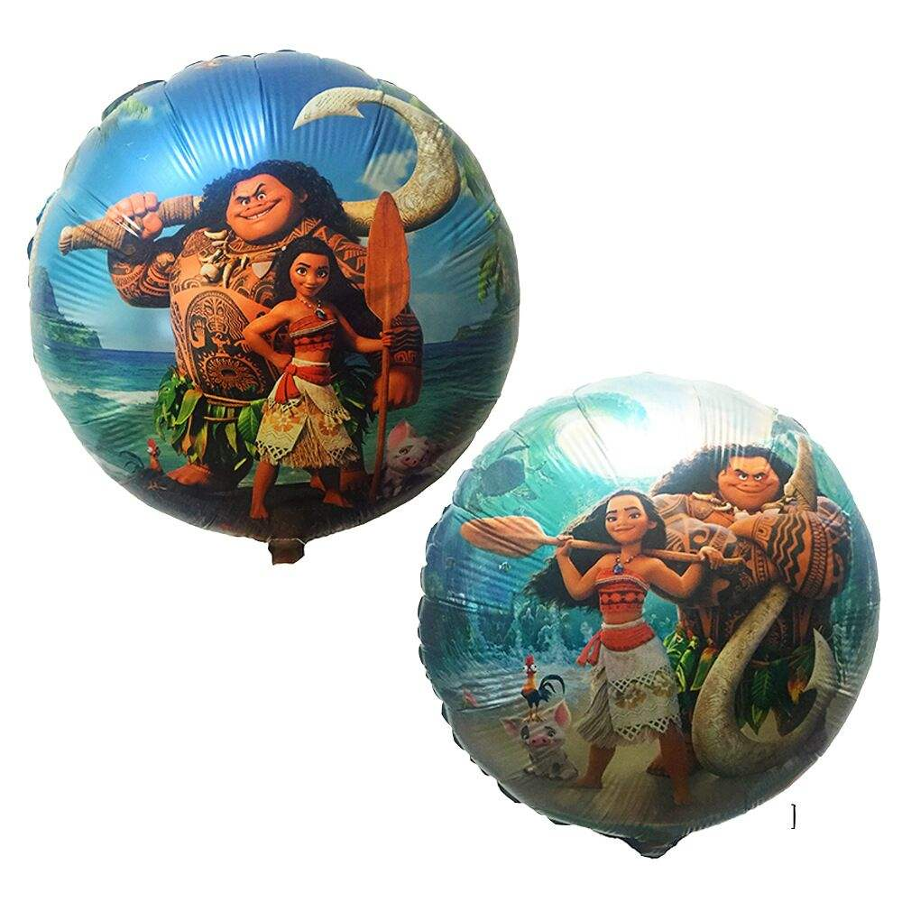 Hot Sale High Quality 18 inch MOANA Balloons Cartoon Toys For Children Birthday Party Globos Decoration Balloon Princes