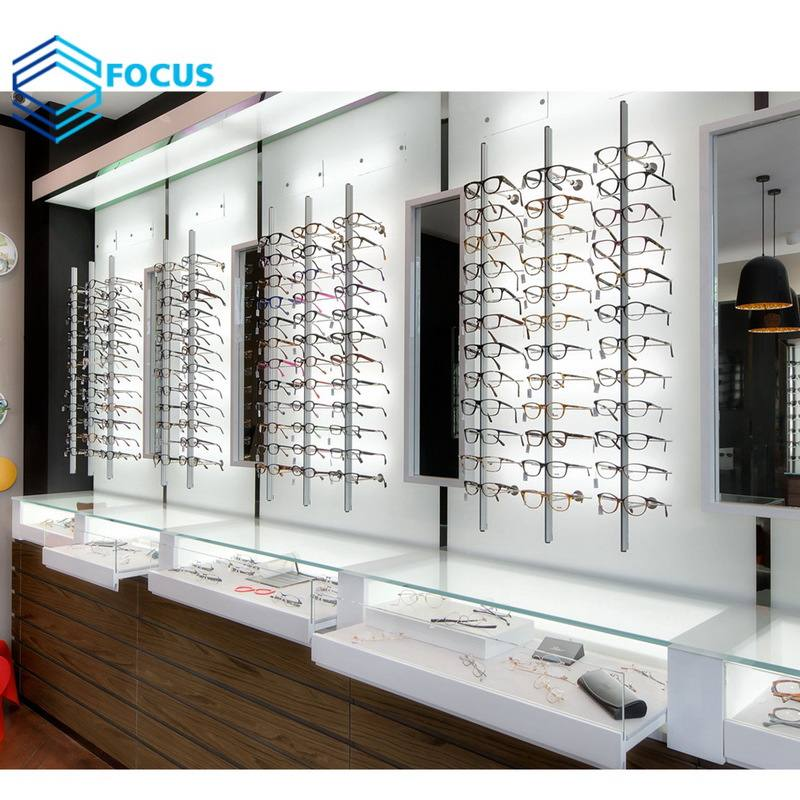 Eyewear Showcase Equipment Optical Display Cabinets Furniture Optical Shop Interior Decoration Design