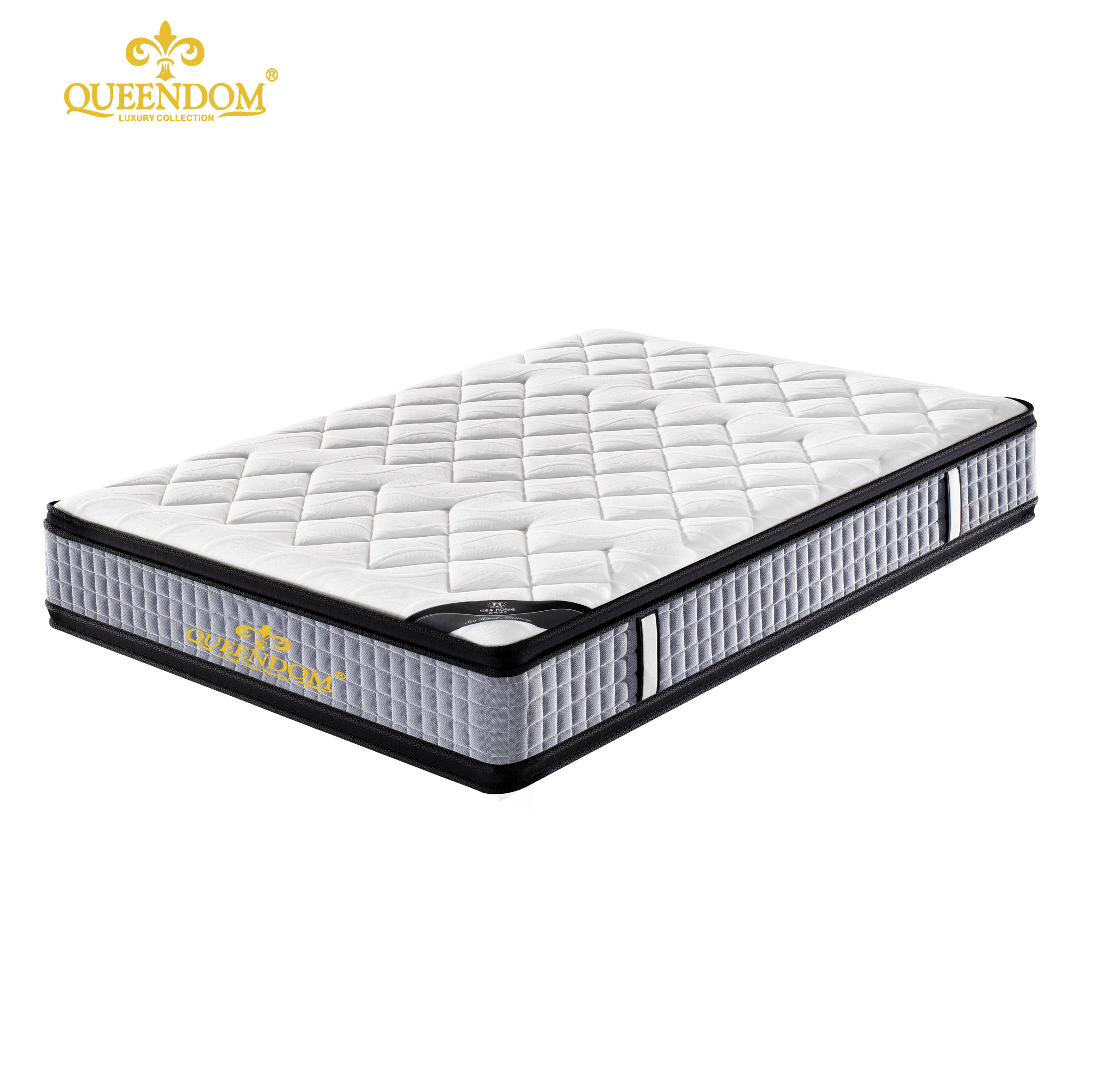 Double sides used Pocket spring pillow top mattress bed mattress manufacture