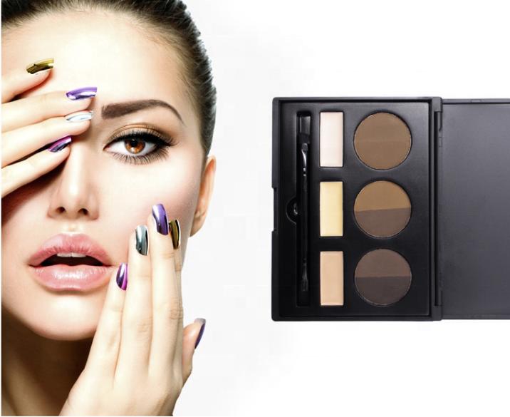 Private Label Brow Powder Palette With Brush Kits Makeup Eyebrow Concealer