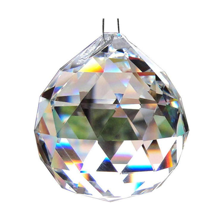 Transparent crystal ball prism rainbow pendant manufacturer used for crystal chandelier home decoration