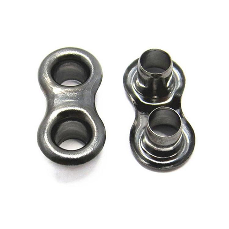 Nuevo diseño elegante doble agujero ojales de metal para bolsos