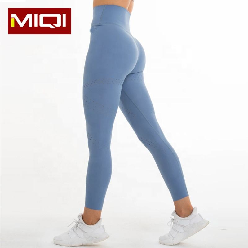 Wholesale Custom Active Sport Wear Nylon Spandex Compress Tights Leggings Push Up Fitness Womens High Waisted Leggings