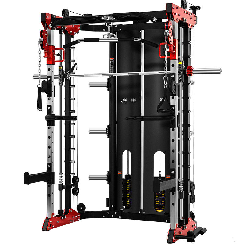 2020 New Home Body Building Cable Crossover Multifunctional Power Cage Squat Rack With Weight Lifting Training Gym Smith Machine