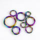 Deepeel BF045 12-38mm Rainbow Spring Keychain Carabiner Snap Clip Clasp Metal Buckle DIY Bags Accessories O Ring