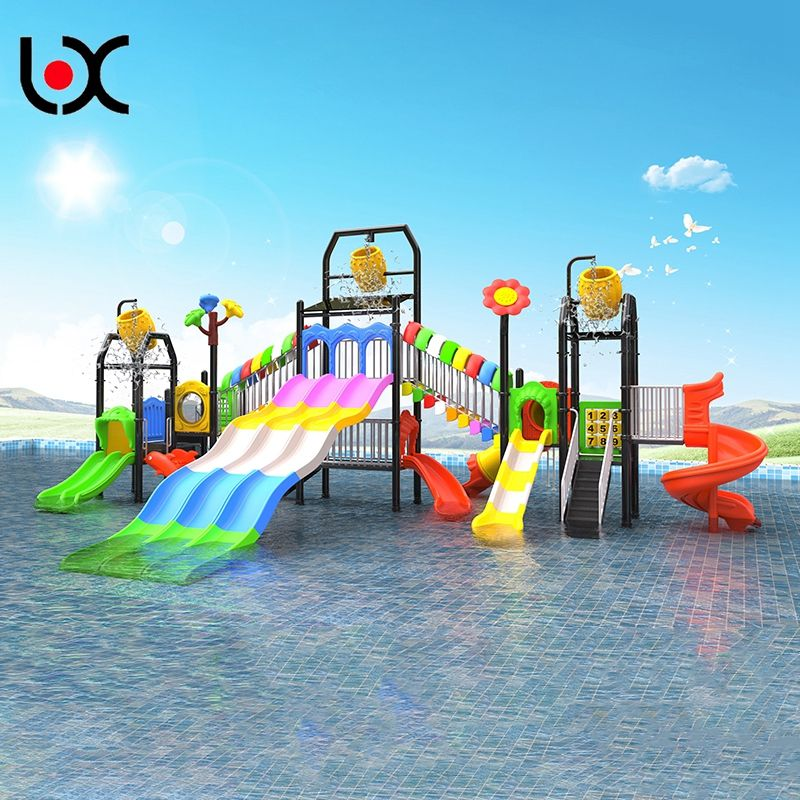 China wholesale backyard water park slides LLDPE outdoor playground equipment swimming pool water slides
