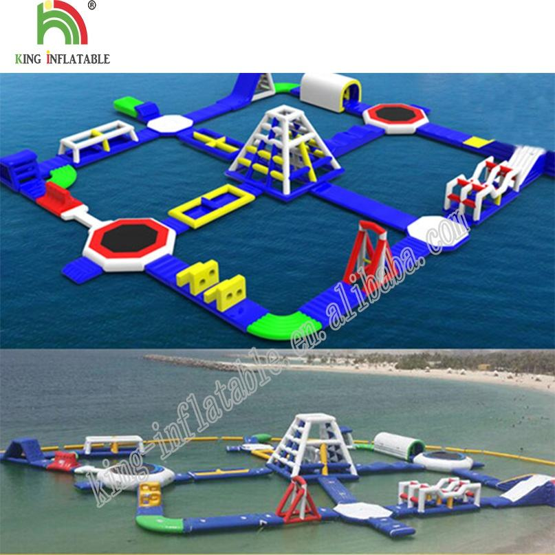 Popular China Inflatable Factory Supply Huge Floating Island Water Park With Toys Fun