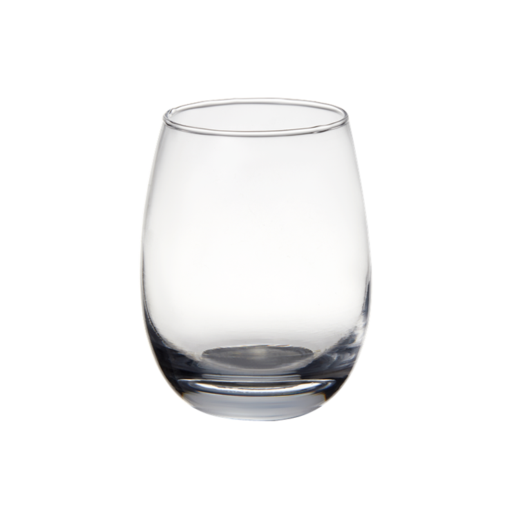 wholesale customizable stemless unbreakable wine egg glass cup