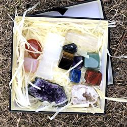 Wholesale custom natural crystal gem energy box chakra cryst